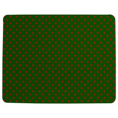 Red Stars On Christmas Green Background Jigsaw Puzzle Photo Stand (rectangular) by PodArtist
