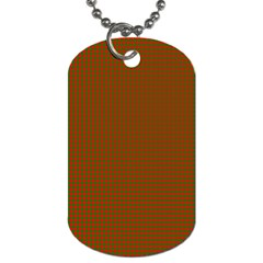 Classic Christmas Red And Green Houndstooth Check Pattern Dog Tag (one Side) by PodArtist