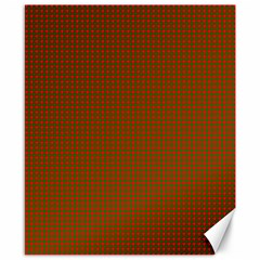 Classic Christmas Red And Green Houndstooth Check Pattern Canvas 8  X 10  by PodArtist