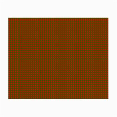 Classic Christmas Red And Green Houndstooth Check Pattern Small Glasses Cloth (2 Side) by PodArtist