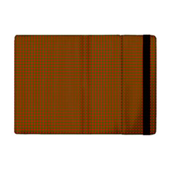 Classic Christmas Red And Green Houndstooth Check Pattern Apple Ipad Mini Flip Case by PodArtist