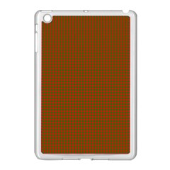 Classic Christmas Red And Green Houndstooth Check Pattern Apple Ipad Mini Case (white) by PodArtist