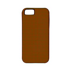 Classic Christmas Red And Green Houndstooth Check Pattern Apple Iphone 5 Classic Hardshell Case (pc+silicone) by PodArtist
