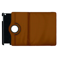 Classic Christmas Red And Green Houndstooth Check Pattern Apple Ipad 3/4 Flip 360 Case by PodArtist