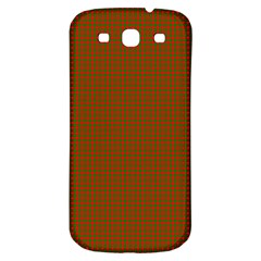 Classic Christmas Red And Green Houndstooth Check Pattern Samsung Galaxy S3 S Iii Classic Hardshell Back Case by PodArtist