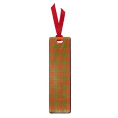 Classic Christmas Red And Green Houndstooth Check Pattern Small Book Marks by PodArtist