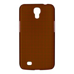 Classic Christmas Red And Green Houndstooth Check Pattern Samsung Galaxy Mega 6 3  I9200 Hardshell Case by PodArtist