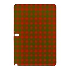 Classic Christmas Red And Green Houndstooth Check Pattern Samsung Galaxy Tab Pro 12 2 Hardshell Case by PodArtist