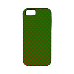 Large Red Christmas Hearts On Green Apple Iphone 5 Classic Hardshell Case (pc+silicone) by PodArtist