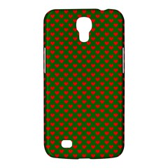 Large Red Christmas Hearts On Green Samsung Galaxy Mega 6 3  I9200 Hardshell Case by PodArtist