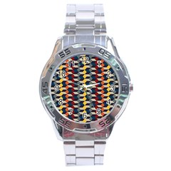 Native American Pattern 3 Stainless Steel Analogue Watch by Cveti