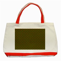 Grey And White Carbon Fiber Classic Tote Bag (red)
