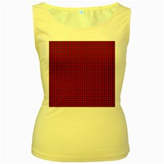 Royal Stuart Tartan Women s Yellow Tank Top by PodArtist