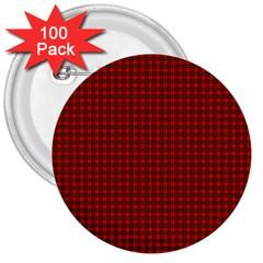 Royal Stuart Tartan 3  Buttons (100 Pack)  by PodArtist