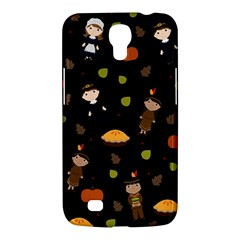 Pilgrims And Indians Pattern   Thanksgiving Samsung Galaxy Mega 6 3  I9200 Hardshell Case by Valentinaart