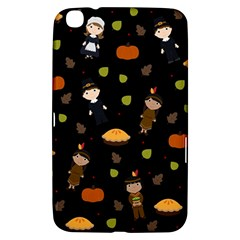 Pilgrims And Indians Pattern   Thanksgiving Samsung Galaxy Tab 3 (8 ) T3100 Hardshell Case  by Valentinaart