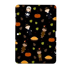 Pilgrims And Indians Pattern   Thanksgiving Samsung Galaxy Tab 2 (10 1 ) P5100 Hardshell Case  by Valentinaart