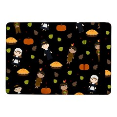 Pilgrims And Indians Pattern   Thanksgiving Samsung Galaxy Tab Pro 10 1  Flip Case by Valentinaart