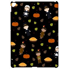 Pilgrims And Indians Pattern   Thanksgiving Apple Ipad Pro 12 9   Hardshell Case by Valentinaart