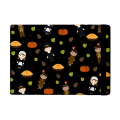 Pilgrims And Indians Pattern   Thanksgiving Apple Ipad Mini Flip Case by Valentinaart