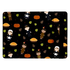 Pilgrims And Indians Pattern   Thanksgiving Samsung Galaxy Tab Pro 12 2  Flip Case by Valentinaart