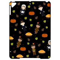 Pilgrims And Indians Pattern   Thanksgiving Apple Ipad Pro 9 7   Hardshell Case by Valentinaart