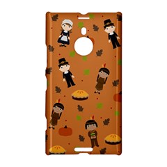 Pilgrims And Indians Pattern   Thanksgiving Nokia Lumia 1520 by Valentinaart