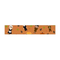 Pilgrims And Indians Pattern   Thanksgiving Flano Scarf (mini) by Valentinaart