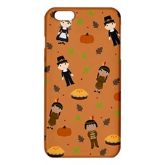 Pilgrims And Indians Pattern   Thanksgiving Iphone 6 Plus/6s Plus Tpu Case by Valentinaart