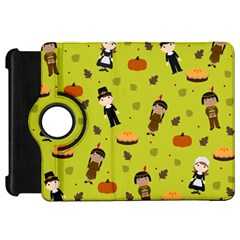 Pilgrims And Indians Pattern   Thanksgiving Kindle Fire Hd 7  by Valentinaart