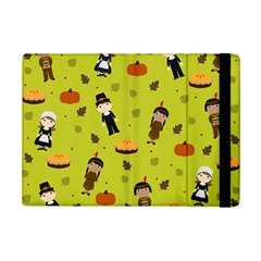 Pilgrims And Indians Pattern   Thanksgiving Ipad Mini 2 Flip Cases by Valentinaart