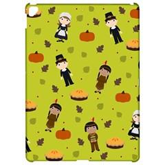 Pilgrims And Indians Pattern   Thanksgiving Apple Ipad Pro 12 9   Hardshell Case by Valentinaart