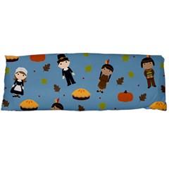 Pilgrims And Indians Pattern   Thanksgiving Body Pillow Case (dakimakura) by Valentinaart