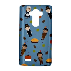 Pilgrims And Indians Pattern   Thanksgiving Lg G4 Hardshell Case by Valentinaart