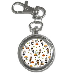 Pilgrims And Indians Pattern   Thanksgiving Key Chain Watches by Valentinaart