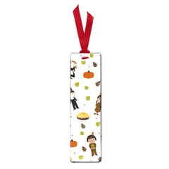Pilgrims And Indians Pattern   Thanksgiving Small Book Marks by Valentinaart