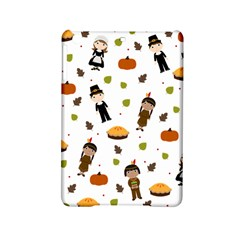 Pilgrims And Indians Pattern   Thanksgiving Ipad Mini 2 Hardshell Cases by Valentinaart