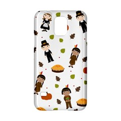 Pilgrims And Indians Pattern   Thanksgiving Samsung Galaxy S5 Hardshell Case  by Valentinaart