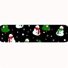 Snowman Pattern Large Bar Mats by Valentinaart