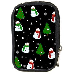 Snowman Pattern Compact Camera Cases by Valentinaart