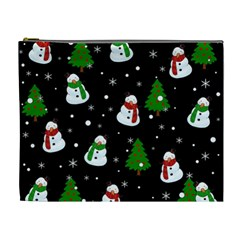 Snowman Pattern Cosmetic Bag (xl) by Valentinaart
