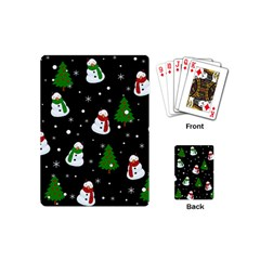 Snowman Pattern Playing Cards (mini)  by Valentinaart