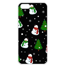 Snowman Pattern Apple Iphone 5 Seamless Case (white) by Valentinaart
