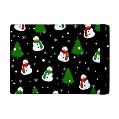 Snowman Pattern Apple Ipad Mini Flip Case by Valentinaart