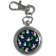 Snowman Pattern Key Chain Watches by Valentinaart