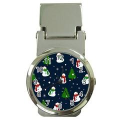 Snowman Pattern Money Clip Watches by Valentinaart
