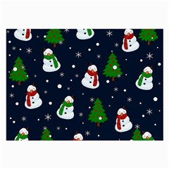 Snowman Pattern Large Glasses Cloth by Valentinaart