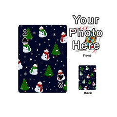Snowman Pattern Playing Cards 54 (mini)  by Valentinaart