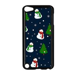 Snowman Pattern Apple Ipod Touch 5 Case (black) by Valentinaart