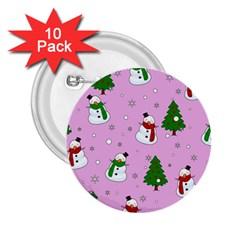 Snowman Pattern 2 25  Buttons (10 Pack)  by Valentinaart